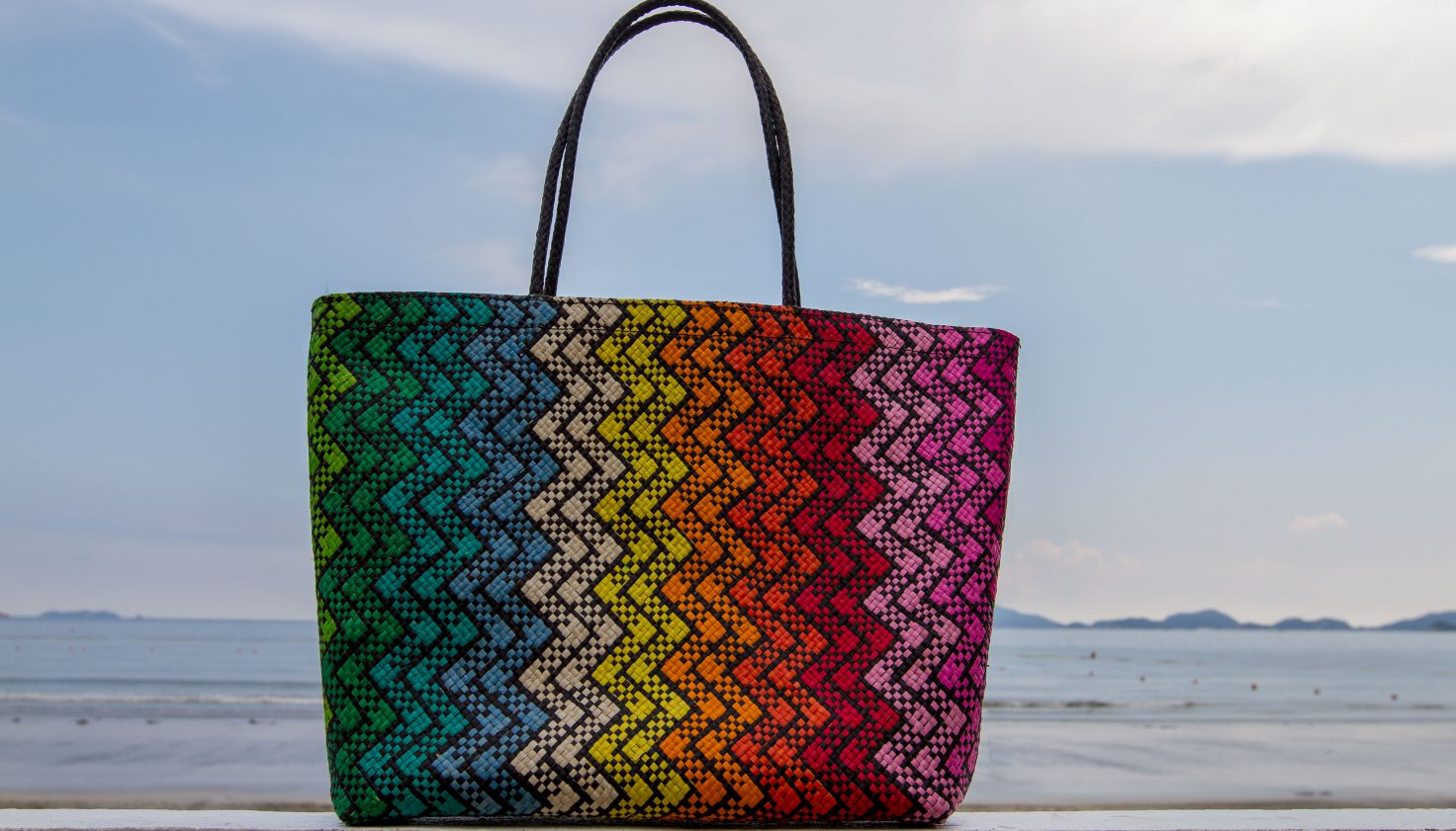 David Roden Large Abaca Rainbow Bag